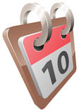 A shiny desk calendar  illustration Royalty Free Stock Photo