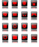 Shiny Desktop Icon Stock Photos