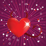 Shiny devil heart Royalty Free Stock Photos