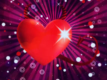 Shiny devil heart Royalty Free Stock Images