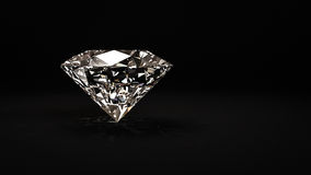 Shiny diamond on black background Royalty Free Stock Image