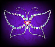 Shiny diamond butterfly Stock Photos