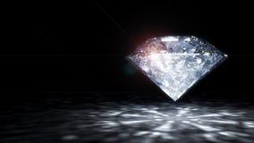 Shiny Diamond. 3 D render of shiny diamond Stock Photo
