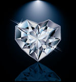 Shiny diamond heart Stock Image