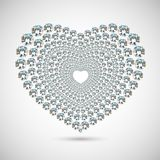 Shiny diamond heart on white background Stock Image