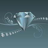 Shiny diamond vector Royalty Free Stock Photos