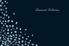 Shiny diamonds background Stock Images