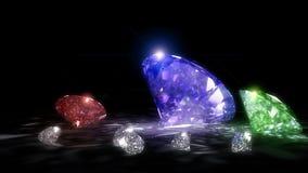 Shiny Diamonds. 3 D render of shiny diamonds Stock Images