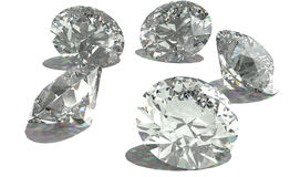 Shiny diamonds Stock Image