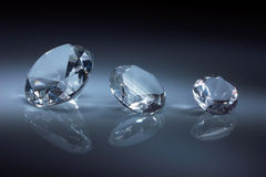 Shiny diamonds jewel on dark blue Stock Image