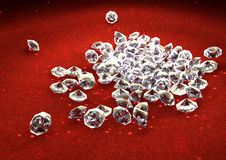 Shiny diamonds Stock Photography