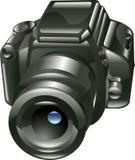 Shiny digital camera illustration Stock Photo