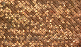 Shiny dirty copper roofing pattern background Royalty Free Stock Images