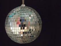 Shiny disco ball 1. Shiny disco ball on black background royalty free stock photos