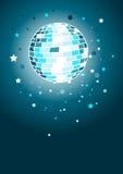 Shiny Disco Ball. In blues Royalty Free Stock Photos