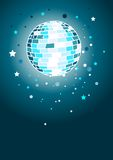 Shiny Disco Ball. In blues stock illustration