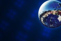 Shiny disco ball. With smoke background Stock Photography