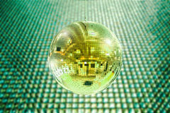 Shiny disco ball. 3d rendering shiny disco ball or mirror ball Stock Photography