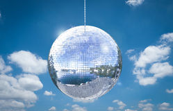 Shiny disco ball. 3d rendering shiny disco ball or mirror ball Royalty Free Stock Photo