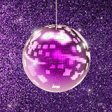 Shiny disco ball. 3d rendering shiny disco ball or mirror ball Stock Images