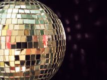 Shiny disco ball, detailed stock photo
