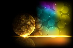 Shiny Disco Ball. Easy to edit vector illustration of shiny disco ball on abstract background Royalty Free Stock Photography