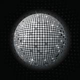 Shiny disco ball greey Royalty Free Stock Images