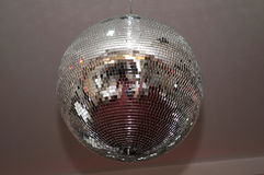 Shiny disco ball in the hall for weddings. Novi Sad, Serbia Royalty Free Stock Images