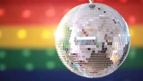 Shiny disco ball revolving Royalty Free Stock Photography