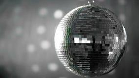 Shiny disco ball revolving Royalty Free Stock Images
