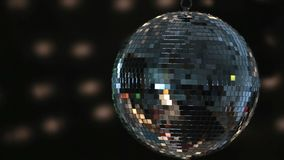 Shiny disco ball spinning around Royalty Free Stock Image