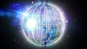 Shiny disco ball spinning around Stock Photography