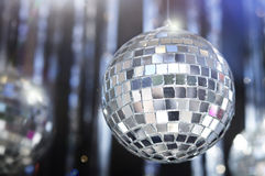 Shiny disco Glitter balls background Stock Photography