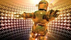 Shiny Disco Robot Dancing Royalty Free Stock Image