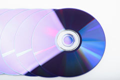 Shiny discs. On a white background Stock Images