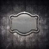 Metal frame on grunge background Stock Images