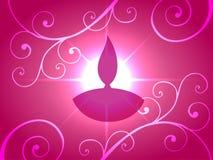 Shiny diwali background Stock Photos