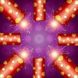 Shiny diwali crackers Stock Photo
