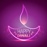 Shiny diwali diya. Beautiful shiny diwali diya vector background