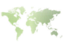 Shiny doted green map. Vector Stock Image