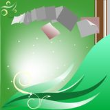 Shiny dreamy card Stock Photo