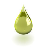 Oil drop. Shiny drop useful for oil or detergent advertising Stock Photography