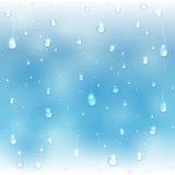 Shiny drops on window Stock Image
