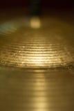 Shiny drum metal plate macro Royalty Free Stock Photo