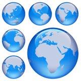 Shiny Earth Map Royalty Free Stock Image