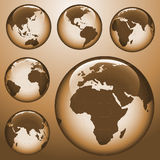 Shiny earth map Royalty Free Stock Image