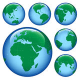 Shiny earth map Stock Photo