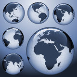 Shiny earth map Stock Images