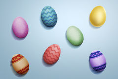 Shiny easter eggs Stock Photography