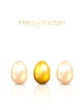 Shiny Easter eggs Stock Images